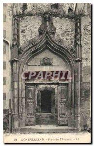Postcard Montferrand Old Gate fifteenth century