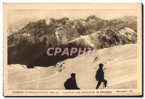Old Postcard Luchon Superbagneres Panorama Mountain Venasque