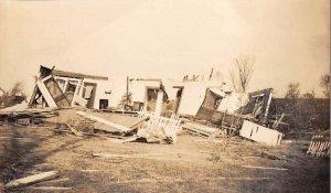 Berryville Arkansas Tornado Damage Wrecked House Real Photo Antique PC J44146