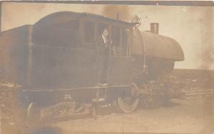 A95/ Lima Ohio RPPC Postcard Locomotive Railroad Goetschius Stone Quarry c1910