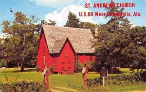 Demopolis Prairieville Alabama~St Andrews Episcopal Church~1960s Postcard