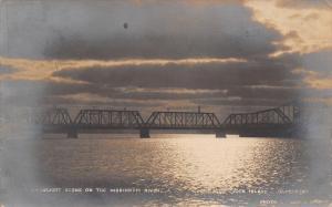 Rock Island Davenport IL~Moonlight on Bridge~Julias Thinks of Millie~1908 RPPC