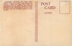 Joy Zone, San Francisco, CA Panama-Pacific Exposition PPIE 1915 Vintage Postcard