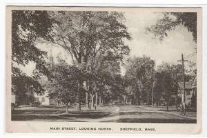 Main Street Sheffield Massachusetts 1921 postcard