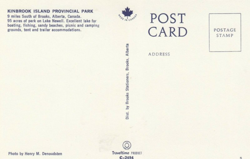 BROOKS , Alberta , Canada , 1950-60s ; Kinbrook Island Provincial Park