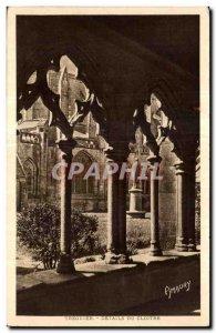 Old Postcard Details of the cloister Treguier