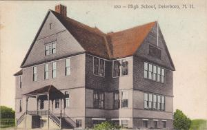 PETERBORO, New Hampshire, 1900-10s; High School