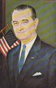 Lyndon B Johnson 36th President Portrait By Morris Katz