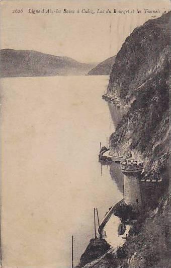 Lac Du Bourget Et Les Tunnels, Ligne d'Aix-les-Bains A Culoz, France, 1900-1910s