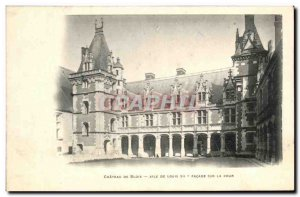 Old Postcard Chateau De Blois Louis XII Wing Of Facade Of The Court
