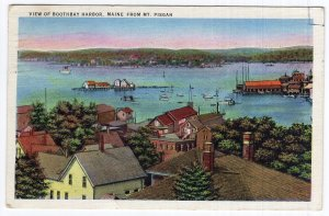 View Of Boothbay Harbor, Maine, From Mt. Pisgah