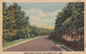 Indiana Greetings From Columbia City Curteich