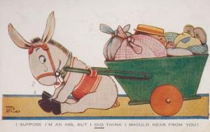 Mable Lucie Attwell I Suppose I'm An Ass Comic Humour Old Postcard