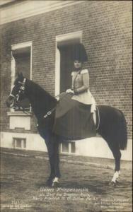 Kronprinzessin Princess on Horse Germany c1910 Real Photo Postcard