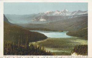 Emerald Lake & Van Horn Range, British Columbia, Canada, early postcard, Used