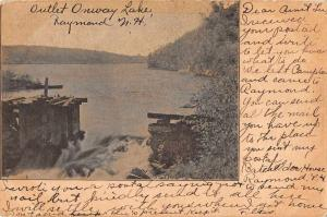 Raymond New Hampshire Outlet Onway Lake Vintage Postcard JD933694