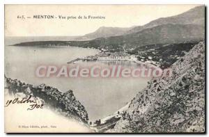 Old Postcard Menton view from the Frontier