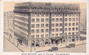 SAN FRANCISCO, California, 1930-1940's; Hotel Bellevue, Geary at Taylor St., ...