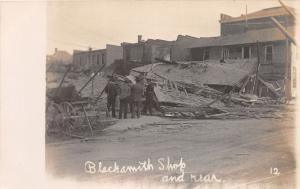 F2/ Ft Fort Recovery Ohio RPPC Postcard 1906 Explosion Disaster Blacksmith 6