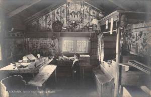 Leksand Sweden Ethnographic Museum Interior Real Photo Antique Postcard K85890