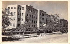 Pierre South Dakota~1940s Car @ St Mary's Hospital RPPC
