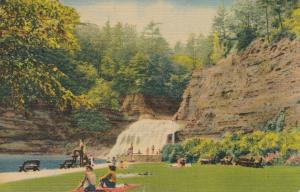 Robert H Treman State Park Swimming Area - Enfield Glen near Ithaca NY pm 1954