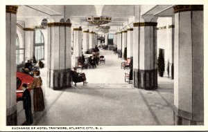 New Jersey Atlantic City Exchange Of Hotel Traymore Curteich
