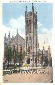 Knox United Church Winnipeg, Manitoba Canada 1929
