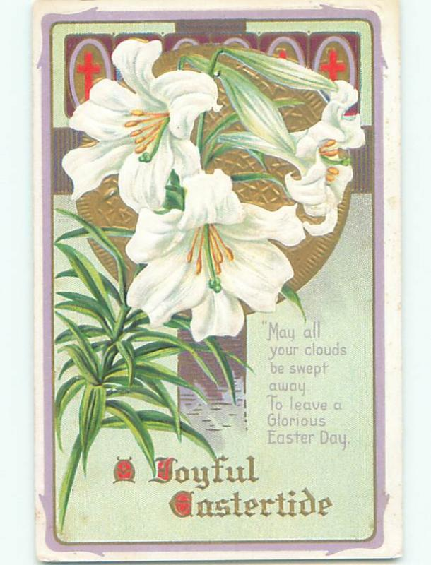 Pre-Linen BEAUTIFUL LARGE EASTER LILY FLOWERS J2158