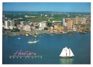 Large 5 X 7 in, Bluenose and Skyline, Halifax, Nova Scotia