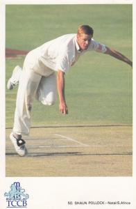 Shaun Pollock South Africa Cricket Player Postcard