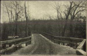 Lanagan MO Indian Bridge c1910 Postcard