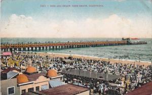 California Long Beach Pier and Beach 1911