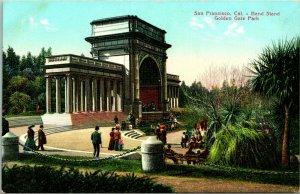 Vtg Postcard PNC 1910s San Francisco California CA Golden Gate Park Band Stand