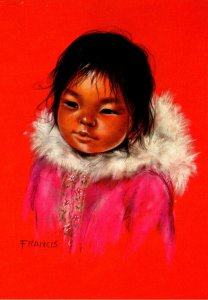 Canadian Eskimo Child Ekaluk Painted By Dorothy Francis