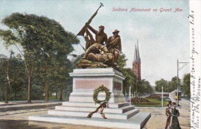 Wisconsin Milwaukee Soldiers Monument On Grand Avenue