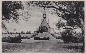 Memorial Church and Evangeline Statue, Grand Pre, Nova Scotia, Canada, 10-20s