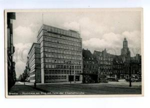 150985 POLAND BRESLAU Wroclaw Hochhaus Vintage postcard