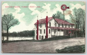 New Franklin-Turkey Foot Lake Ohio~Dirt Rd by Kepler's Hotel~Farm Windmill 1913