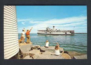 Nantucket, Mass/MA Postcard, Steamer/Brant Point, Cape Cod