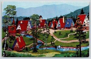 Whiteface Mountain New York~North Pole Santa's Workshop Village~Artist 1960s