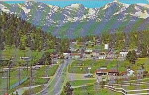Colorado Denver Approaching Estes Park Village On The Big Thompson Highway