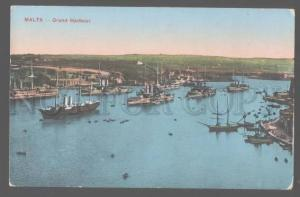 106219 MALTA grand Harbour Vintage colorful PC