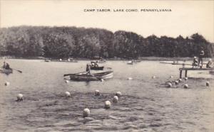 Canoeing At Camp Tabor Lake Como Pennsylvania Artvue