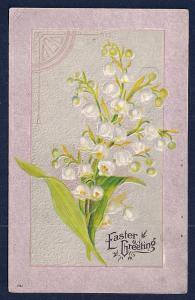 'Easter Greeting' Lilies of the Valley Used c1910