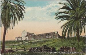 Mission De Alcala, San Diego, California, Early Postcard, Unused