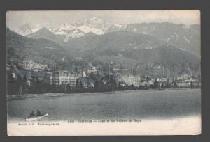 087264 SWITZERLAND Montreaux Caux et les Rochers de Naye Old