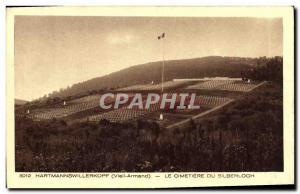 Old Postcard Hartmannswillerkopf Le Cimetiere Du Silberloch