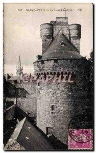 Postcard Old Saint Malo Grand Donjon