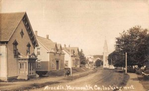 Arcadia Nova Scotia Canada Yarmouth County Looking West Real Photo PC AA6517